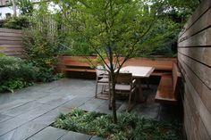 Garden, NYC: Verdant Garden Design. Simple courtyard. Pinned to Garden Design - Courtyards by Darin Bradbury.