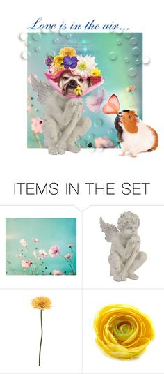 """Love is in the air"" by dexlira ❤ liked on Polyvore featuring art, Spring and romance"