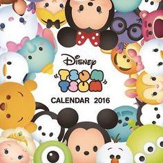 Disney Tsum Tsum Wall Paper Calendar 2016 Kawaii Japan Mickey F S ...