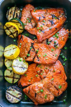 Grilled Maple Salmon RecipeReally nice recipes. Every hour.Show  Mein Blog: Alles rund um die Themen Genuss & Geschmack  Kochen Backen Braten Vorspeisen Hauptgerichte und Desserts # Hashtag