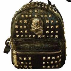 Philipp Plein Backpack Bag Spiked Black Brand New 100% Authentic PHILIPP  PLEIN Backpack Bag Spiked 12c494afad