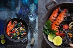 #Recipe / Black Linguine With Seafood