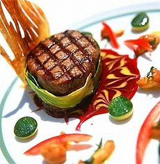 Nouvelle cuisine-Food Art: The French are known for their exquisite decorating of food!