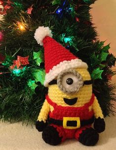 Santa Minion PDF Pattern Crochet for Amigurumi Doll Plush Christmas