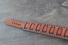 Leather Bracelet-men bracelet-handmade red ginger by sergklim