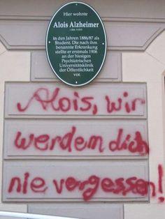 Hackschnitzel - Street Art: Alois Alzheimer