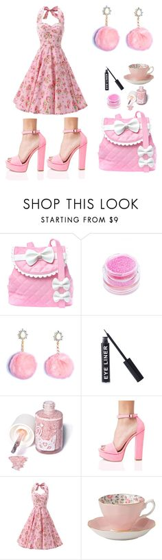 """Untitled #380"" by ashlyn96 ❤ liked on Polyvore featuring Sugarbaby, Medusa's Makeup, Stargazer, Sugarpill, Chinese Laundry and Royal Albert"