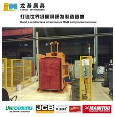 TPQ15B Pallet Changers:  Uses Include: 1)Load transfer from wood to hygienic in-house pallets; 2)Switching outgoing loads to shipper or rental pallet requirements. 3)Handling loads which must remain the original way up after transfer. Contact: William Zoa; Email: william@longji-fj.com