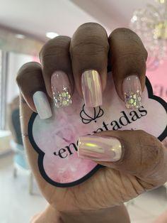Nude Nails, Pink Nails, Glitter Nails, Acrylic Nails, Glamour Nails, Short Nails, Hair And Nails, Nail Designs, Hair Beauty