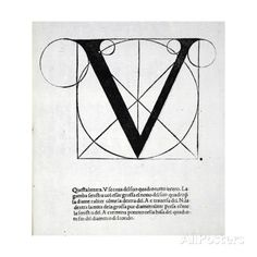 V, Illustration from 'Divina Proportione' by Luca Pacioli Originally Pub. Venice,… Giclee Print by Leonardo Da Vinci at AllPo. Luca Pacioli, Calligraphy Tattoo Fonts, Modern Calligraphy, Affordable Wall Art, Cool Posters, A4 Poster, Find Art, Poster Size Prints, Canvas Frame