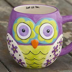 """""""Let it be."""" #owl #mug #wordstoliveby"""