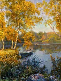 New Nature Paintings Landscape Beautiful Ideas Watercolor Landscape, Landscape Art, Landscape Paintings, Watercolor Art, Autumn Painting, Autumn Art, Painting Art, Pictures To Paint, Art Pictures