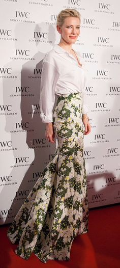 Cate Blanchett in Giambattista Valli Couture - love the skirt, I think I have a pattern similar to this
