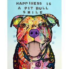Smile Pit Bull Print