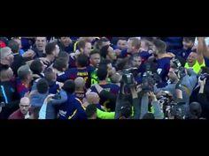 EL FC BARCELONA, CAMPEÓN DE LA LIGA 2015 2016│CELEBRACIÓN EN LA CANCHA