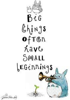 Totoro Drawing - Totoro Quote - Origional drawing - black and white ... totoro…