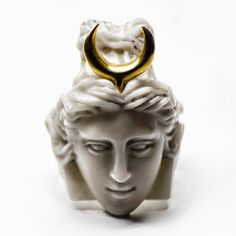 Daughter of Leto and Zeus, Artemis was the headstrong goddess of the hunt, wilderness, and midwifery. Unusual Wedding Rings, Wedding Rings For Women, Unique Rings, Unique Jewelry, Artemis, Hermes Ring, Ring Size Guide, Macabre, Silver Jewelry
