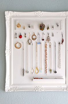 jewelry-organizer for a weeks worth of pieces would be great!