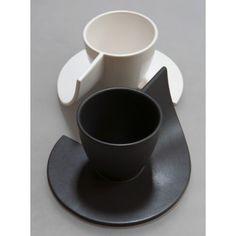 Tasse à café originale K.Ouah en grès