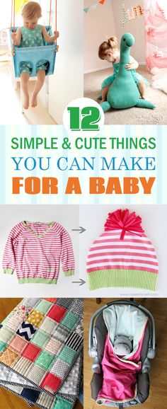 12 Simple and Cute Things You Can Make For A Baby