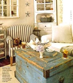 Distressed Painted Furniture for a Weathered Beachy Look & Easy Breezy Living: http://www.completely-coastal.com/2013/04/distressed-painted-furniture-for-coastal-beach-look.html