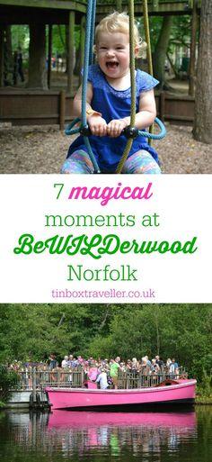 Favourite memories from the amazing woodland adventure, BeWILDerwood near Norwich in Norfolk. #Norfolk #EastAnglia #outdoorfun #familydayout #familytravel