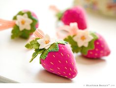 Strawberries- these would be cool with emery filling- i've seen it available on etsy