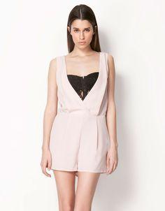 599k Bershka Indonesia - Bershka lace bodice jumpsuit