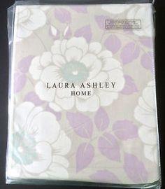 New-LAURA-ASHLEY-Nina-Amethyst-Lilac-Curtains-64-x-72-Ready-made-Floral-green