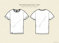 Check out Men White Round Neck T-shirt by VecFashion on Creative Market