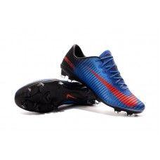 Nike Mercurial Vapor XI FG Bleu-Rouge Chaussures de football pas cher Cheap  Football Shoes 2490502fddc4f