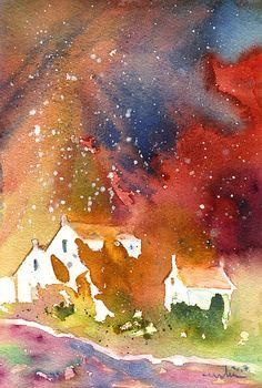 It is Always Snowing Somewhere 01. Artist:Miki De Goodaboom. Medium:Painting - Watercolour