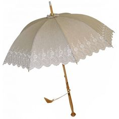 Embroidered Long Handled Parasol | Umbrellas