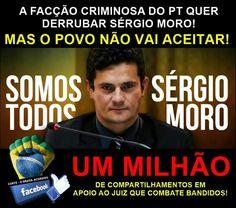 Face 2016.03.18 UM MILHÃO DE COMPARTILHAMENTOS EM APOIO AO HOMEM QUE NÃO TEM MEDO DE COMBATER BANDIDO!  VAMOS JUNTOS BRASIL! COMPARTILHEM!  O BRASIL VENCERÁ! FAÇA A SUA PARTE! #Compartilhe Curta Movimento Contra Corrupção