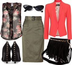 """Army girly"" by madmoizelle1 on Polyvore"