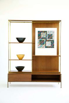Paul McCobb Display Room Divider | From a unique collection of antique and modern shelves at https://www.1stdibs.com/furniture/storage-case-pieces/shelves/
