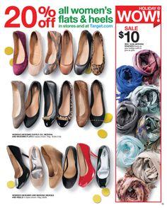 Target - Sale starts November 17, 2013 - November 23, 2013 November 23, Chanel Ballet Flats, Target, Wedges, Heels, Holiday, Women, Style, Fashion
