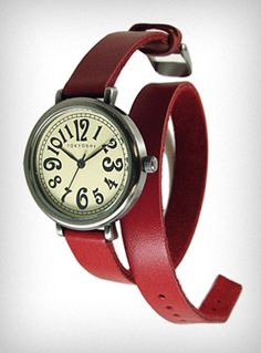 Crimson Cavalry Double-Wrap Watch | PLASTICLAND    I've been super keen on this for a while now. C:
