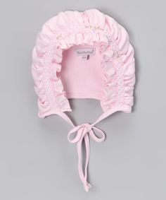 Look at this Pink Pima Bonnet on #zulily today!