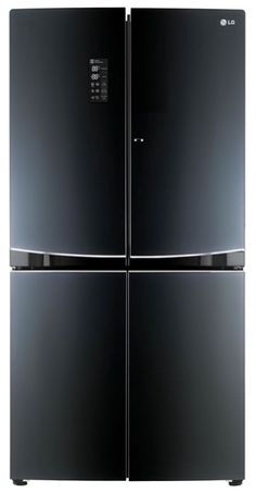 LG is showing off a new take on black finishes. At the 2015 CES, LG debuts a glass-front refrigerator finish called Contour Glass. The refrigerator features tempered glass over a black patterned finish that is a chic, yet smudge-proof way, to enhance kitchens.