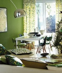 Lush Scion / Melinki One fabrics, curtains & blinds. See the blog for more ideas bursting with vitality.