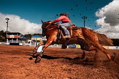 This cowgirl can ride with the best of them. What a great action shot!