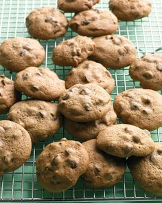 Chocolate Chip Cookie Recipes: Be careful not to overbake these cookies so that they'll have a chewy texture. If you like gooey chocolate chips, microwave the cookies for a few seconds. Click through for the recipe.