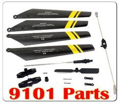 Main Blade Grip Set/Bottom Fan Clip/Tail Rotor/Main Blades Set and so on for Double Horse 9101 RC Helicopter Spare Parts Set