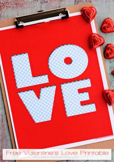 Free LOVE Printable   8x10   Instant Download