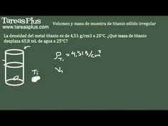 Cálculo de densidades – masa de titanio sólido irregular
