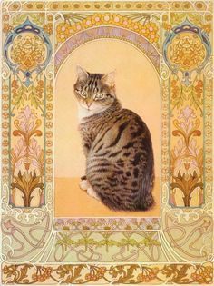 Lesley Anne Ivory Cat Artwork Original Vintage by Victorianaprint