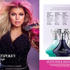 Make a Difference with Outspoken Party by Fergie! Avon will donate $5 to the Avon Breast Cancer Crusade with the purchase of every full-size Outspoken Party! Eau de Parfum Spray and any of the four Outspoken by Fergie Eau de Parfum Sprays.  Contact me for a sample or samples of all Fergie's fragrance line.  maromire.avonrepresentative.com #Fergie, #Outspokenparty #AvonFragrance