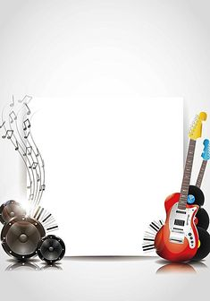 Guitar music background template