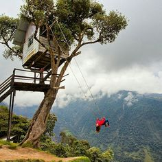 Swing at the End of the World in Baños de Agua Santa - Ecuador | by @extemenature by thedreampics